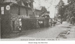 Historical Photo – Slocum's Garage – East Main Street Pawling