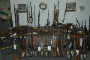 State Police Seize Cache of Weapons