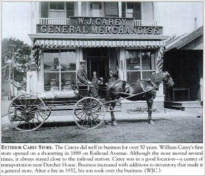 History: W.J. Carey Store on the corner of Broad Street and Charles Colman in the Village of Pawling