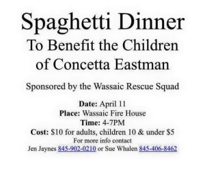 Spaghetti Dinner To Benefit the Children of Concetta Eastman