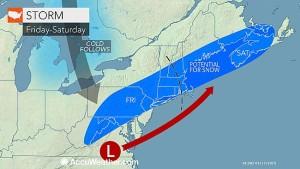 Snowstorm possible late week