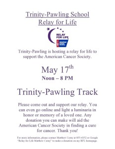 Trinity-Pawling Relay for Life