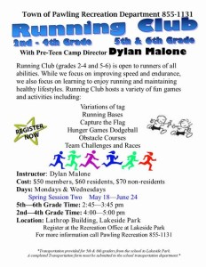 Running Club Spring 2015