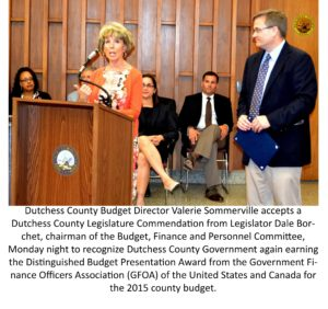 DUTCHESS COUNTY AGAIN NATIONALLY  RECOGNIZED FOR ANNUAL BUDGET