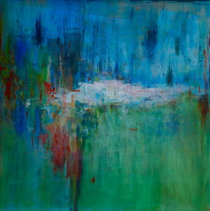 """GALLERY AT NAPLES STUDIO PREMIERES  """"PENTIMENTO,"""" NEW PAINTINGS BY KATHY WISMAR  Show Presents Colorful Range of Abstract Acrylics  by Local Painter and Ceramic Artist"""
