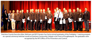 Over 20 Dutchess County Volunteer Firefighters Recognized by NYS Office of Fire and Prevention Control