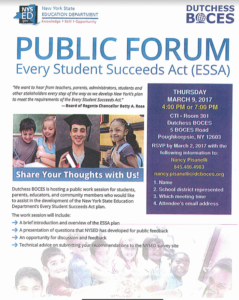 Every Student Succeeds- A Public Forum Event