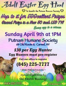 Adult Easter Egg Hut for The Putnam Humane Society