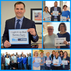 "Dutchess County ""Lights It Up Blue"" for World Autism Awareness Day"