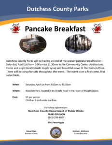Bowdoin Park to Host Pancake Breakfast Tomorrow