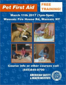 Free Pet First Aid Training