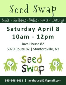 Calling Gardeners of all levels! Join us for our first annual Seed Swap on April 8!