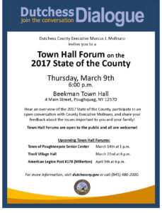 2017 State of the County, Town Hall