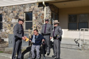Copake teen participates in ride along with police