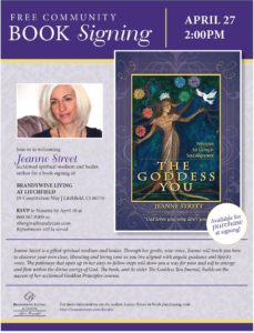Free Community Book Signing  The Goddess You, by Jeanne Street