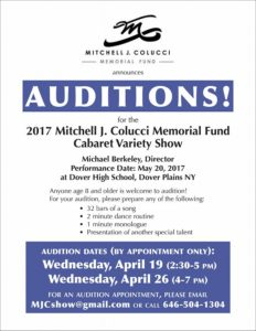 Auditions 2017 Mitchell J. Colucci Memorial Fund Variety Show