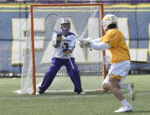 JD Colarusso of Poughquag, UAlbany lacrosse goalie making most of his turn