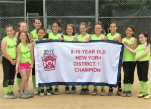 The Pawling girls Minors All-Star softball team captures the district title for the first time in the history of Pawling Little League!