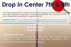 After School Drop In Center – 7th & 8th Graders