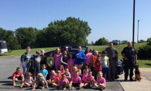 Chatham Kids Club summer recreation program visited the New York State Police SP Livingston Barracks