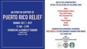 Puerto Rico Hurricane Relief Drop-Off This Weekend