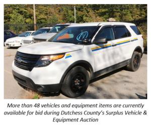 Online Auction Underway for Surplus  County Vehicles & Equipment