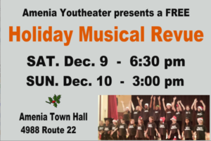 Amenia's Youth Theater will present, Holiday Musical Revue '17