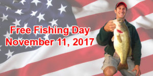 Veterans Day is a Free Fishing Day in NY