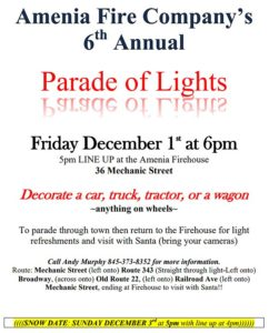 Amenia Fire Department 6th Annual Parade of Lights