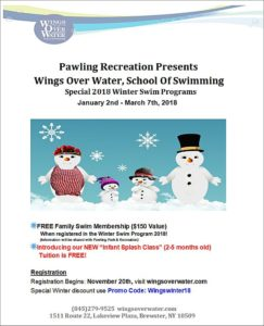 Pawling Recreation Wings Over Water – Winter Program