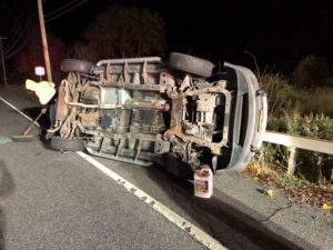 Rollover motor vehicle accident in Patterson