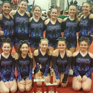 Dutchess Premier Cheer Blaze team out of Dover/ wingdale NY placed 1st place in their division and won Overall grand champs at the ketchum completion last weekend