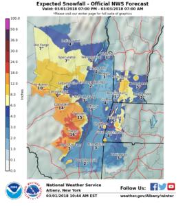 Storm Snowfall Potential