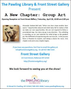 The Pawling Library & Front Street Gallery Present, A New Chapter: Group Art