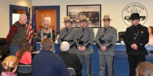 Troopers recognized for saving a resident's life at the New Lebanon Town Hall