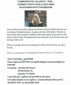 Karen Kilmartin event at The Amenia Firehouse