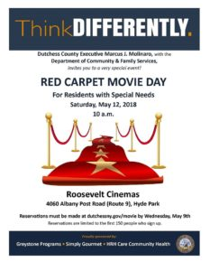 Dutchess County to Host Red Carpet  Movie Day for Families with Special Needs