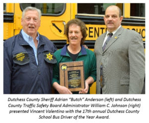 Pawling's Vincent Valentino Honored  as School Bus Driver of the Year