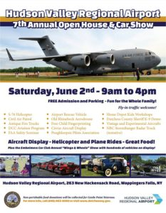 Hudson Valley Regional Airport 7th Annual Open House & Car Show to be Held June 2nd