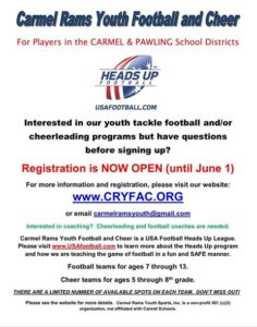 Carmel Rams Youth Football and Cheer
