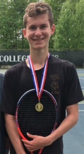 Millbrook High School Varsity Tennis player sophomore Daniel Feigelson wins the MHAL singles tournament