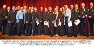 Dutchess County Volunteer Firefighters Recognized by NYS Office of Fire and Prevention Control