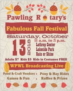Pawling Rotary's Fabulous Fall Festival Scheduled for October 13th.