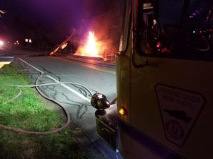 Putnam accident – vehicle fire