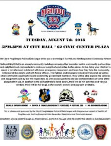 City of Poughkeepsie Police National Night Out 2018