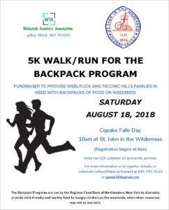 The Webutuck Teachers' Association is holding a 5k to raise funds for the Backpack Program