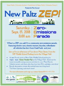 Zero Emissions Parade (ZEP) and Green Vendor Fair in New Paltz