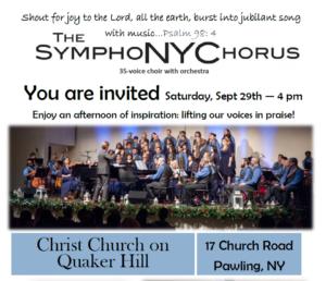 The SymphoNYChorus is back at Christ Church at Quaker Hill