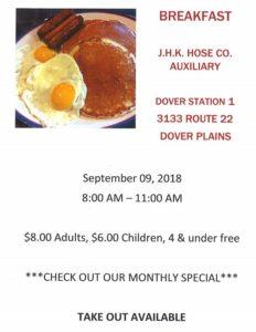 J.H.K. Hose Co. Auxiliary Breakfast