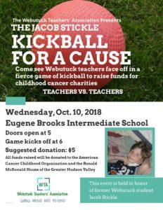 The Webutuck Teachers' Association Presents The Jacob Stickle Kickball For A Cause